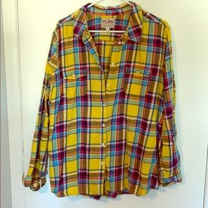 XXL Old Navy Yellow Flannel